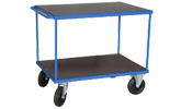 Plattformsvagn 604 med två plan och handtag